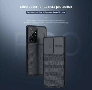Nillkin Camshield Pro Case For Samsung S21 Ultra [Built-in Lens Protector] Black