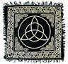 "NEW Gold Triquetra on Black Altar Cloth 18""x 18"""