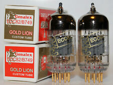 Matched Pair Genalex Gold Lion 12AU7 / ECC82 / B749 tubes, Brand New