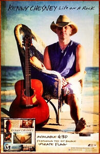 KENNY CHESNEY Life On A Rock Ltd Ed New RARE Poster +BONUS Country Pop Poster!