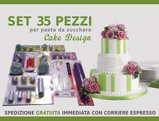 STAMPINI AD ESPULSIONE X MARZAPANE PASTA DA ZUCCHERO 35PZ TORTE CAKE DESIGN