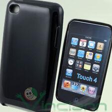 2x Pellicola + Custodia LUCIDA NERA in TPU morbida per iPod Touch 4 4G
