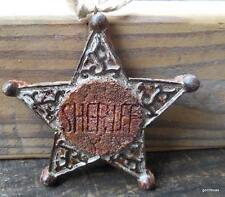 """Sherif Star Christmas Ornament Resin 4 """""""