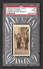 Laurel & Hardy 1931 W.D & H.O. Wills Cinema Stars  PSA 9 MINT