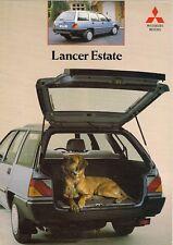 Mitsubishi Lancer Estate 1988-89 UK Market Foldout Brochure 1500 GLX 1800 Diesel