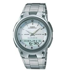 Casio AW80D-7AV Men's Metal Band Silver Dial Analog Digital Telememo 30 Watch