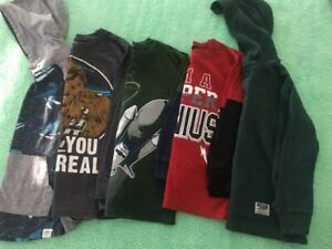 Boys Long Sleeve & Hoodie Lot - Size 7/8