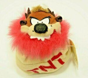 Vintage Looney Tunes Taz Tasmanian Devil TNT Plush Beanbag Toy by Applause 1998