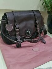 Radley Leather / Wool Blend Tote Satchel Underarm Bag Brown Medium