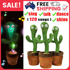 Dancing Cactus Talking And light-up Plush Toy Cute Music Doll Kids Birthday Gift