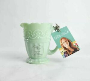Pioneer Woman Creamer Green Jade Milk Glass Timeless Beauty *New*
