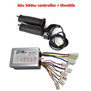 36V 500W Electric Bike Scooter Motor Brush Speed Controller Twist Grips Throttle