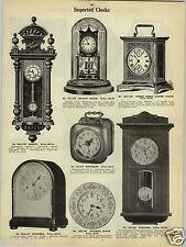 """1923 PAPER AD Bosnia Becker Regulator Clock 40"""" Joker Music Alarm Conductor"""