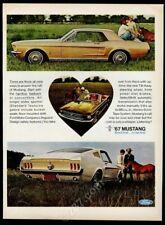 1967 Ford Mustang black convertible Fastback Hardtioo 3 car photo print ad