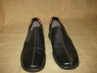 Cole Haan Zeno Black Leather Slip On Moccasin Loafers Driving Shoes Men's 10.5 M