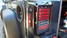 07-11 Jeep Wrangler JK Black LED Rear Tail Light Brake &Turn Signal W/Reverse LT