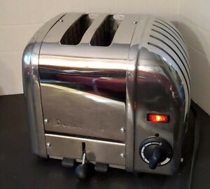 Dualit 2 Slice Toaster 20293/87/87 Chrome Electric Classic Crumb Tray England