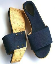 ▓ Denim wedge sandals size 9