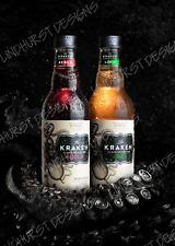 More details for kraken spiced rum metal sign plaque bar man cave vintage retro garage alcohol uk