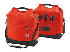 (1862) SET OF 2 PANNIER BIKE MESSENGER BAGS DOUBLE CARRIER, RED