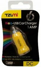 Tzumi Neo-USB Car Charger Portable Adapter Auto 12V DC Yellow