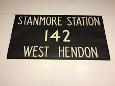 """London Bus Blind 9877 36""""- 142 Stanmore Station West Hendon"""