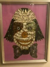 """""""The Clown"""" Vintage 1970 ART Collage collectible with Butterflies - Moths Wings"""
