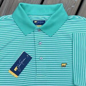 Jack Nicklaus Men's Polo Golden Bear Golf Shirt M L XL XXL Pink Peach Blue Pearl