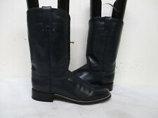 TONY LAMA Blue Leather Roper Cowboy Boots Womens Size 7 A Style 7502L