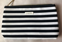 Lancome Signature Cosmetic Bag Foldable BLACK Strips GWP NEW