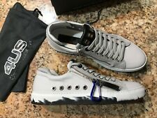 100% AUTHENTIC CESARE PACIOTTI 4US SNEAKERS WHITE CALFSKIN, SIZE 10US(9UK) ITALY
