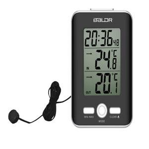 Digitales LCD Thermometer Hygrometer Luftfeuchtigkeitstemperaturmesser mit Sonde