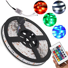 Multicolor Waterproof  5M 300 LED 5050 SMD RGB Strip Light 24 Key Remote DC Line