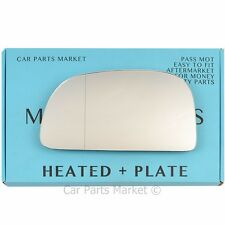 For MITSUBISHI SPACE STAR 98-05 LEFT HEATED ANGLE MIRROR GLASS PASSENGER + PLATE
