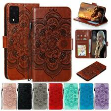 For Samsung Galaxy A21s A11 A31 A51 A71 Case Embossed Leather Flip Wallet Cover