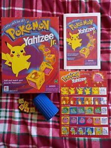 Vintage Pokemon Yahtzee Jr 1999 MB Games 100% Complete