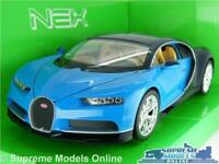 BUGATTI CHIRON MODEL CAR 1:24 SIZE BLUE WELLY OPENING PARTS LARGE SUPER SPORTS K