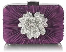 Ladis Moda Flor Embrague Bolso Cartera Boda Fiesta Diamante Cristal Blogger