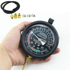 Car Engine Exhaust Back Pressure Tester Set Analog Pressure Gauge Test Tool Kit