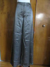 Theyskens Theory Paige women's silk silver steel dress pants size 2 NWT
