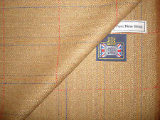 100%PURE NEW WOOL COUNTRY TWEED, CLASSIC WINDOWPANE DESIGN JACKETING FABRIC2.48m