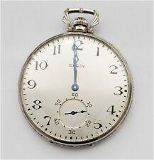 Watch 14K Solid Gold Runs #57-7 Antique 12S Elgin Open Face Pocket