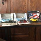 Lot of 3 ERTL 1/43 Vintage Die Cast Replica Vehicles- GTO, Roadster, Case