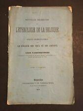[0414-D1] Brochure - Vanderkindere - L'Ethnologie de la Belgique - 1879 - Cartes