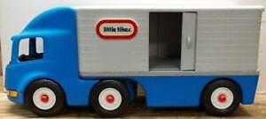 "Vintage 23"" Little Tikes Blue Ride On Semi Tractor Trailer"