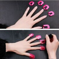 26 Pcs Curve Shape Spill-proof Finger Cover Sticker Nail Polish Varnish Holder