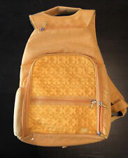 New Lug Back Pack Quilted Nylon Yellow Light Weight Travel Adjustable Straps