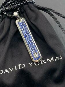 David Yurman Pave Tag with Blue Sapphire