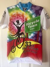 Pace Sportswear Cycling Jersey Bicycle Town Great Western Bike Rally Men's Small