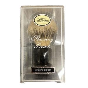 The Art of Shaving Handcrafted 100% Fine Badger Shaving Brush - Black (New)